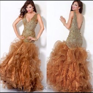 Gold Jovani Gown size 4